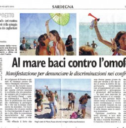 Kiss on the beach – Cagliari 28/08/2010