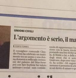 """""""Omofobo? Sono sempre stato per i diritti di gay e lesbiche"""". Pace fatta tra il MOS e Claudio Piras?"""